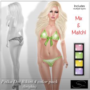 Stellar Polka Dot Bikini 4 pack AD brights